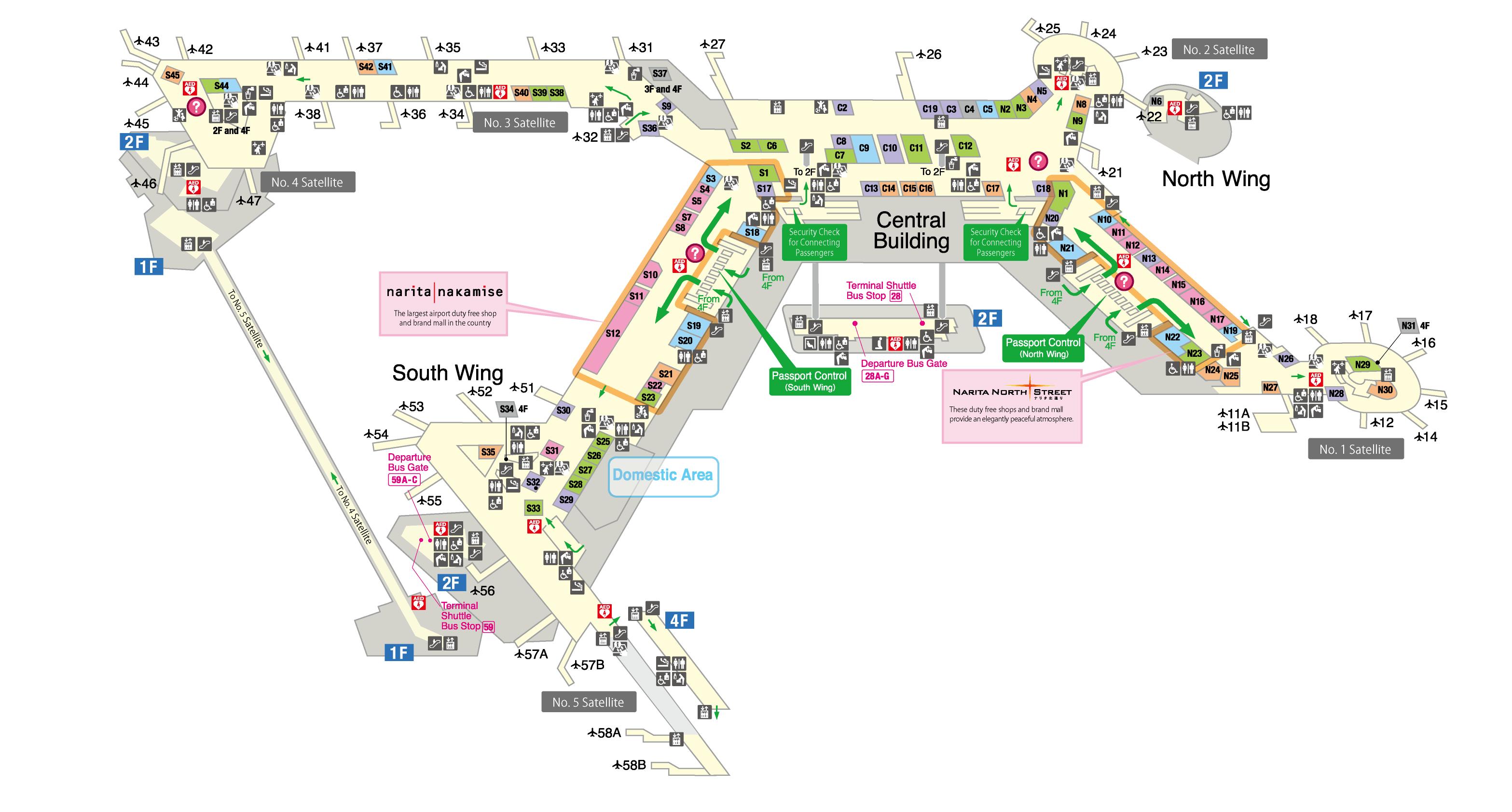 Floor map | NARITA INTERNATIONAL AIRPORT OFFICIAL WEBSITE