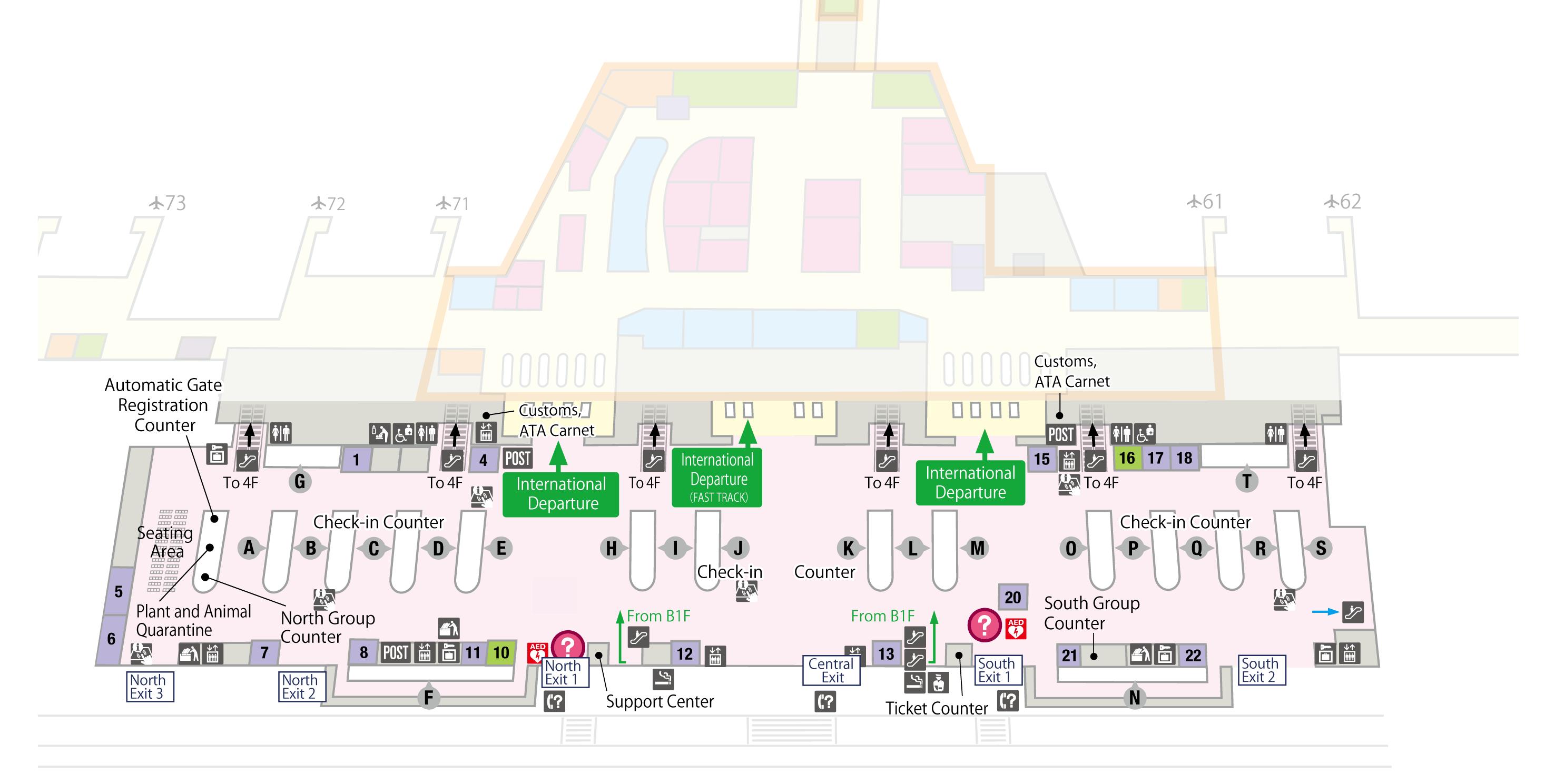 Jp Plan floor map narita international airport official website