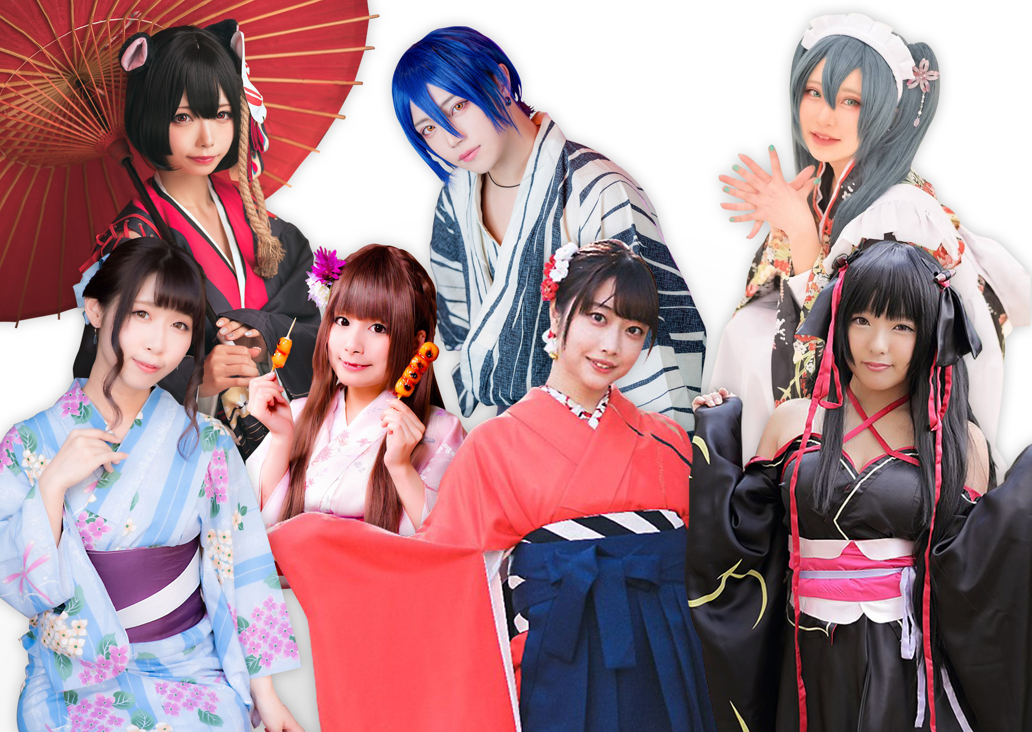 Concept photo of Seven Gods of Fortune Cosplay Parade event