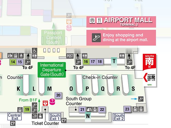 THAI AIRASIA X Terminal 2 international check-in counter area map
