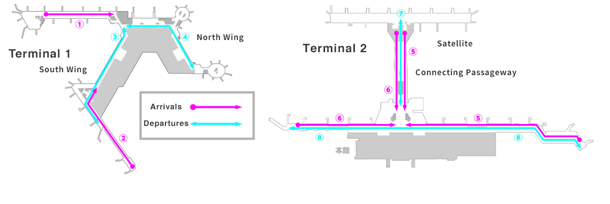 This is a map of the operating area. Please contact Narita International Airport Information (0476-34-8000) when using.